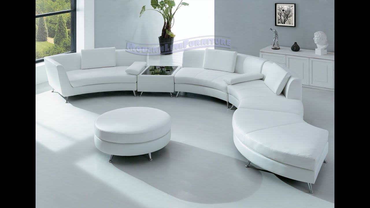 White Sectional Leather Sofa Modern