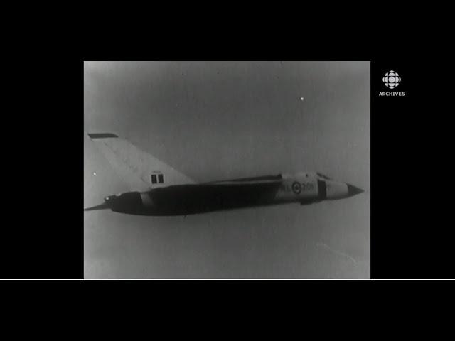En 1958, présentation de l'avion CF-105 Arrow d'Avro