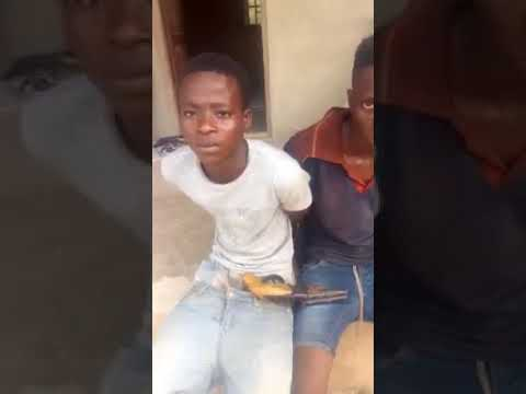 Secondary School Students Caught With Gun While Robbing A Farm In Ogun (Watch Video)