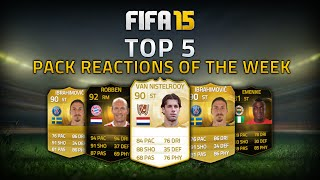 TOP 5 PACK REACTIONS OF THE WEEK  FT. DISCARD LEGEND & SIF ROBBEN! - FIFA 15 ULTIMATE TEAM