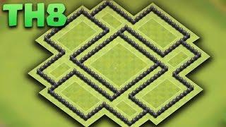 Town Hall 8 (TH8) De Farming Base 2016 - Protect your Center Dark Elixir + Defense Replays