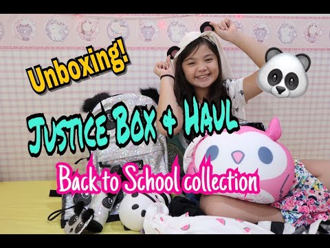 Unboxing! Justice Box and Haul 🐼 lKimberly Dawn Martin