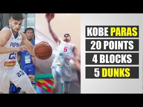 Kobe Paras Moster Performance vs Myanmar | Bright Future for PH Basketball ᴴᴰ