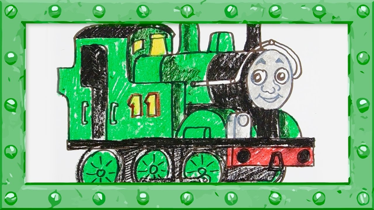 How To Draw Oliver Thomas And Friends Drawing And Colors Learning Video For Preschoolers