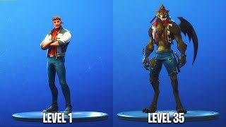 "LVL 35 WEREWOLF SKIN UNLOCKED! Stage 3 ""DIRE"" SKIN Gameplay (Fortnite Season 6 Tier 100 Custom Skin)"
