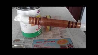 Як зробити ручку для шампури або напилка частина 3