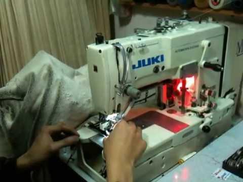 máy làm khuy thẳng, thùa khuyết đầu bằng juki lbh 761 buttonhole machine