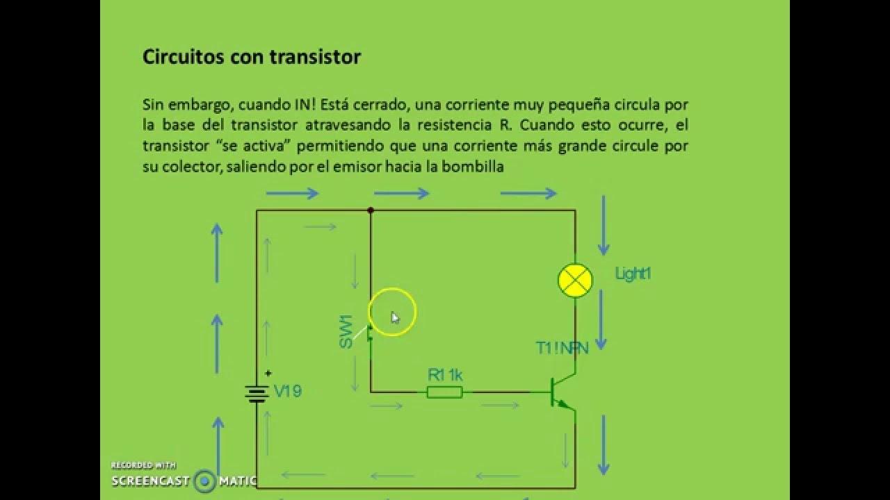 Circuito Basico : Transistores circuito bÁsico youtube