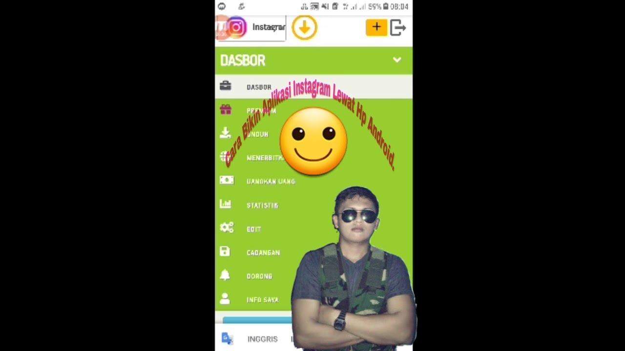 Tutorial Cara Bikin Aplikasi Instagram Lewat Hp android ...