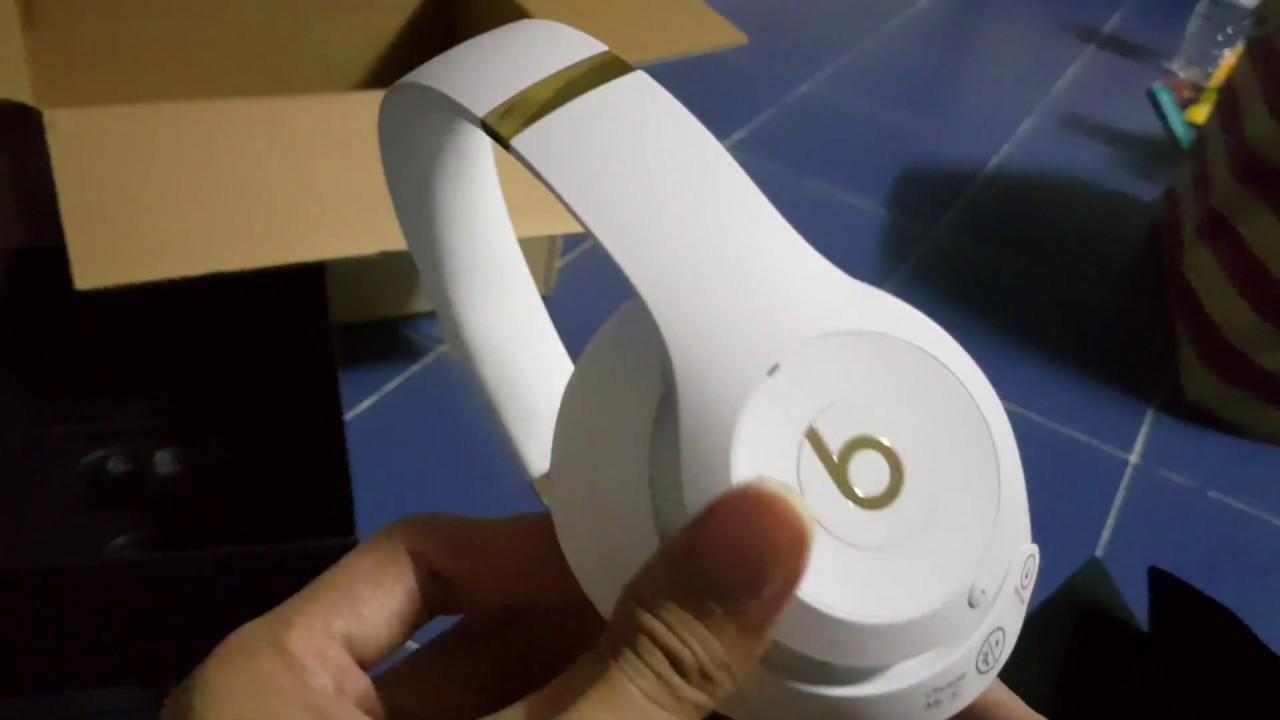 Beats Studio 3 Wireless White Gold Unboxing Youtube