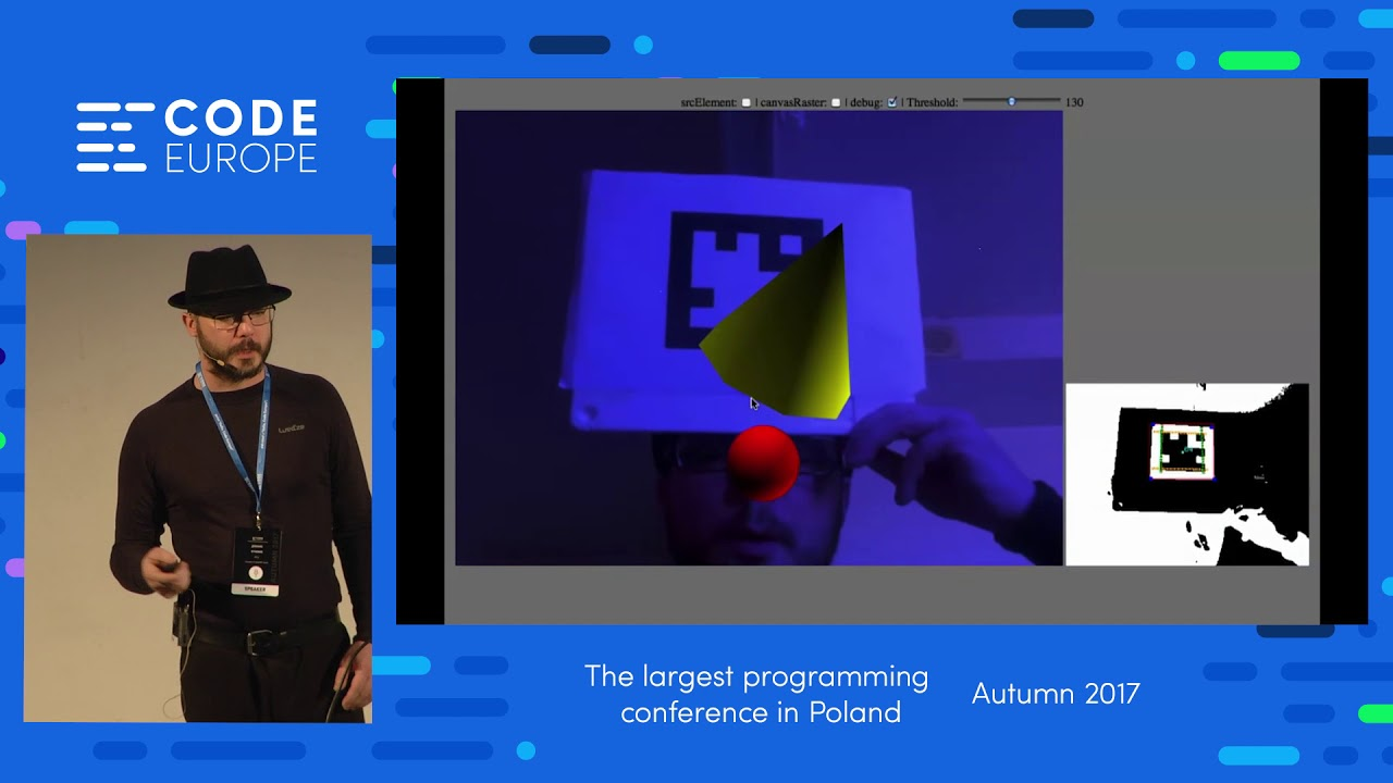 The Web: A Great Platform for AR - lecture by Jerome Etienne - Code Europe  Autumn 2017
