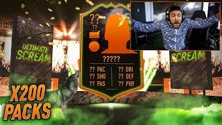 ULTIMATE SCREAM IN A PACK!! 200 SBC PACKS!! FIFA 20
