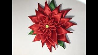 Kanzashi Poinsettia Flower