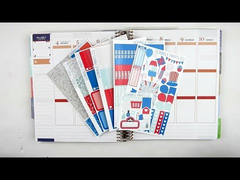 Plan With Me   4th of July (ScribblePrintsCo)