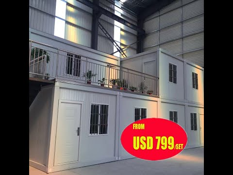 detachable low cost collapsible modular mobile portable prefabricated container house