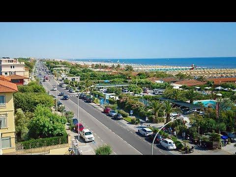 Marina di Pietrasanta seaside resort in Tuscany 4K