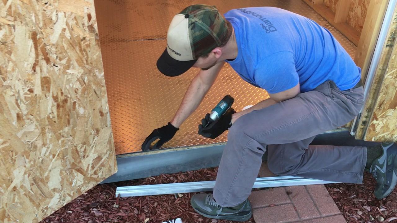 How To Install Aluminum Diamond Plate Floor Part 1