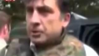 Что такого сказал Путин Саакашвилу  и от чего Саакашвили зажевал галстук