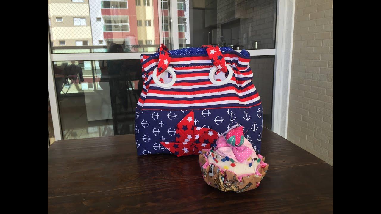 Bolsa De Tecido Para Notebook : Bolsa de tecido com ilhoses cortina
