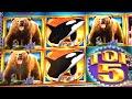 SUPER BIG WIN ~ 5 Bears on Kodiak Island Slot Machine Bonus TOP 5!!