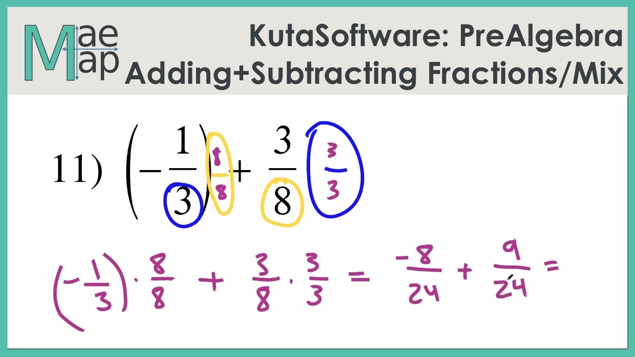 KutaSoftware: PreAlgebra- Adding And Subtracting Fractions And Mixed Numbers