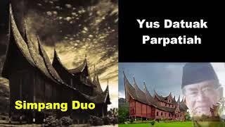 Gambar cover Carito Minang Simpang Duo Pembelajaran dari Yus Datuak Parpatiah