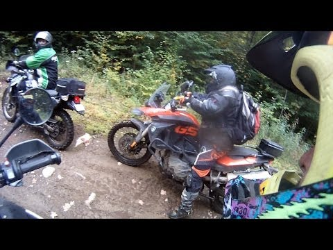 Ride JackRabbit et trails Hydro Quebec F800GS R1200GS KLR650