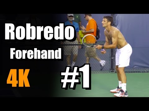Tommy Robredo in 4k | Forehand #1 | Western & Southern Open 2014
