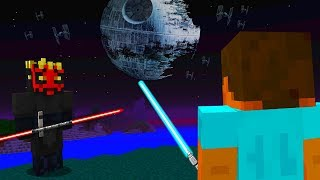 STEVE AND ALEX MINECRAFT - Star Wars Darth Maul Jedi VS Sith Death Star