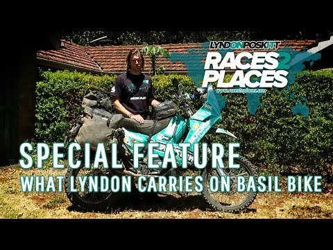 Races To Places Special Feature - What Lyndon Carries On Basil Bike - Lyndon's Luggage