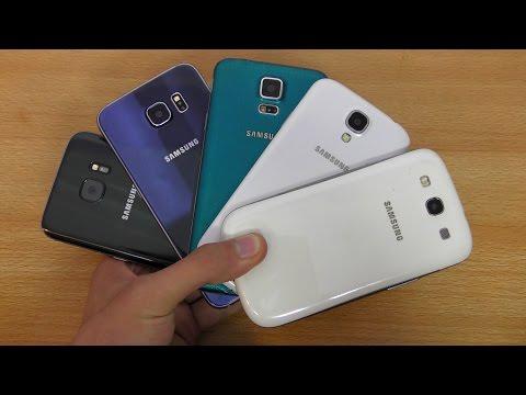 Samsung Galaxy S7 vs S6 vs S5 vs S4 vs S3 - Review! (4K)