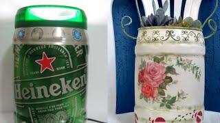 Suculentas no Balde Vintage – Feito com Latão de Cerveja