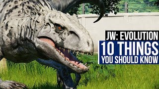 10 Things You Should Know Before Playing Jurassic World: Evolution