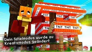 Ein /gamemode1 TNT Traumhaus für meine FEINDE!