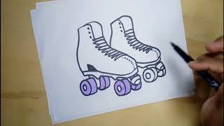 How to draw and color some skates