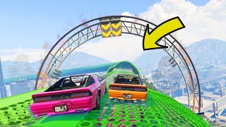 GTA 5 ONLINE 🐵 CRAZY STUNT RACE 🐵 EXTREME SPORTS MUSCLE CAR RACING GAMES 🐵 Wolley Plays GTA V #12