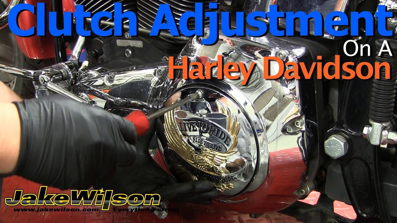 harley davidson clutch and clutch cable adjustment [ 1280 x 720 Pixel ]