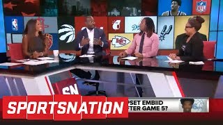 Marcellus Wiley: Back off Joel Embiid, because postgame handshakes are stupid | SportsNation | ESPN