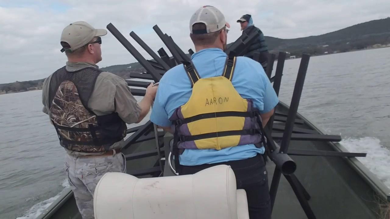 Field notes sinking fish attractors in lake buchanan for Lake buchanan fishing