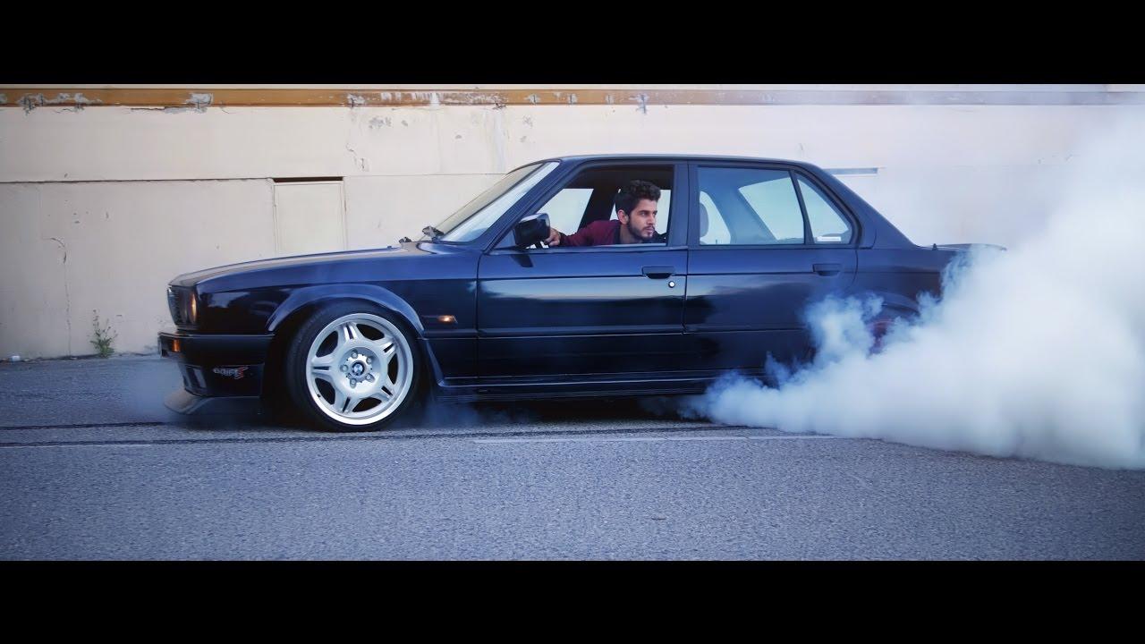 Bmw E30 Sedan M50b25 Fun Video Burnout Youtube