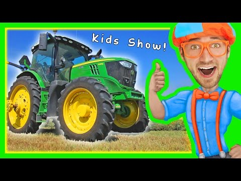 Tractors for Children Explore a Tractor with Blippi