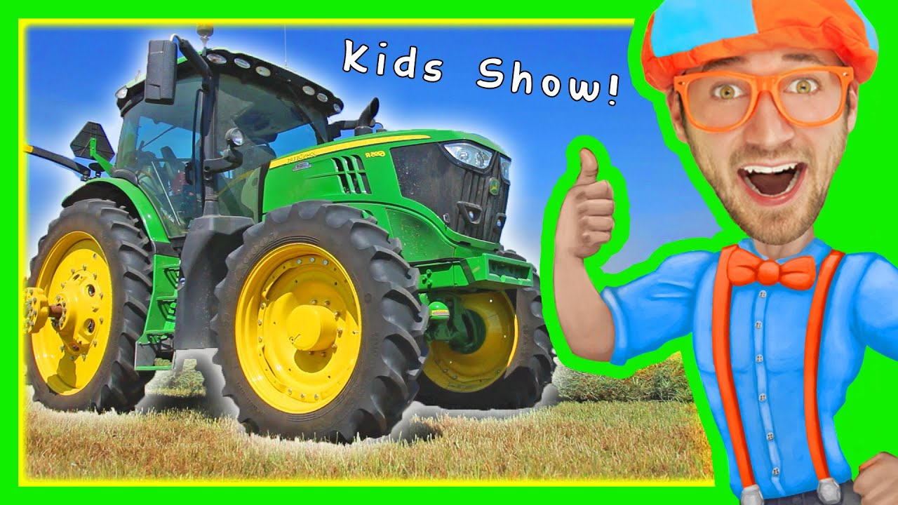 Tractors for Children – Explore a Tractor with Blippi ...