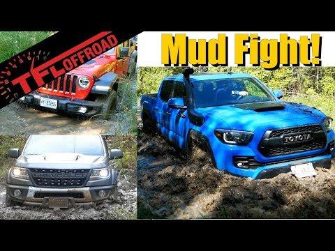 Muddy Mayhem: Colorado vs Gladiator vs Tacoma - Which is the Best Off-Road Midsize Pickup?