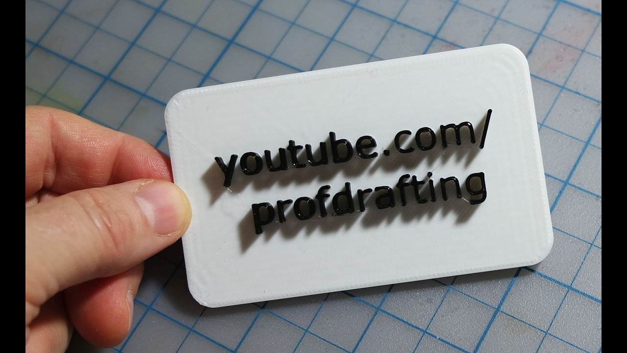 SketchUp: Model and Print a Two Color Business Card - YouTube