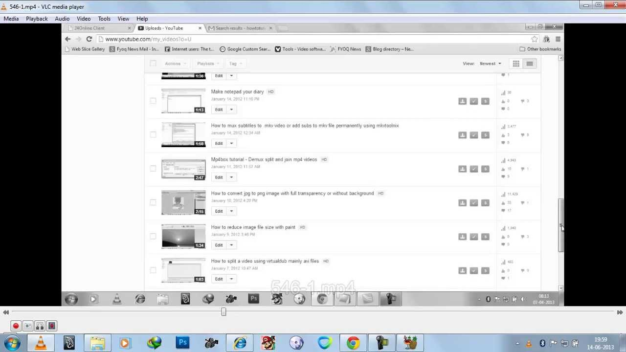 why is my youtube video black and white