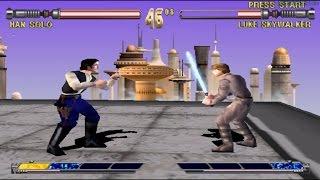 Star Wars Masters of Teras Kasi PS1 (Han Solo) Part 1 Arcade Mode HD