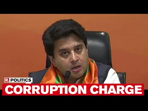 WATCH: Jyotiraditya Scindia Fires 'Mafia' Charge At MP CM Kamal Nath After Joining BJP