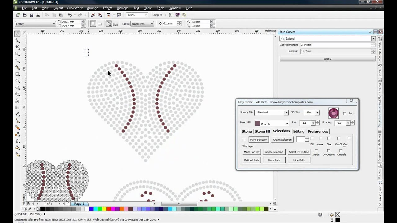 Resizing Pre Designed Rhinestone Templates Coreldraw And Easy