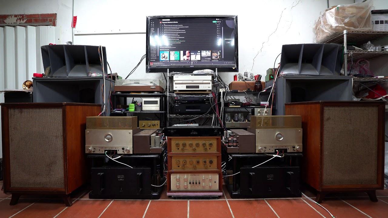 「PaganiniDiabolus In musica」測試稀有歐洲1952年份全音域有原裝箱體配對喇叭的聲音 - YouTube