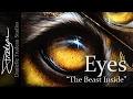 The Beast Inside - Painting Some Eyes with Oil Paint and Gold Leaf